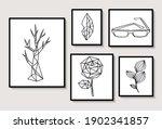 set of black  frames with... | Shutterstock .eps vector #1902341857