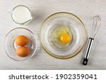 Pitcher With Milk  Brown Eggs...