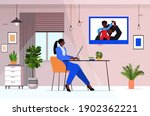 african american businesswoman... | Shutterstock .eps vector #1902362221