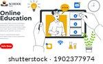 webinar online education social ... | Shutterstock .eps vector #1902377974