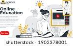 webinar online education social ... | Shutterstock .eps vector #1902378001
