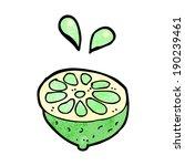 cartoon fresh lime | Shutterstock .eps vector #190239461
