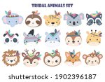 cute animals, watercolor illustration, animals illustration, animal clipart.