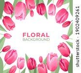 flower square banner. white...   Shutterstock .eps vector #1902409261