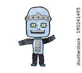 cartoon waving robot | Shutterstock .eps vector #190241495