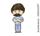 cartoon dad with folded arms | Shutterstock .eps vector #190241597