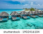 Aerial View Of Maldives Island  ...