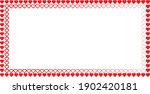 border frame with hearts .... | Shutterstock .eps vector #1902420181