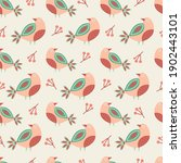 seamless spring floral pattern. ... | Shutterstock .eps vector #1902443101