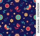 seamless spring floral pattern. ... | Shutterstock .eps vector #1902443104
