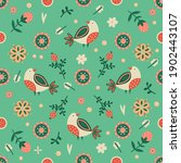 seamless spring floral pattern. ... | Shutterstock .eps vector #1902443107
