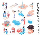 infection prevention set with... | Shutterstock .eps vector #1902458671