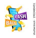 cash back money reward ... | Shutterstock .eps vector #1902480451