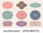 retro vintage frames collection ...   Shutterstock .eps vector #1902480721