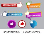 recommend badges creative...   Shutterstock .eps vector #1902480991