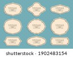 retro vintage frames collection ... | Shutterstock .eps vector #1902483154