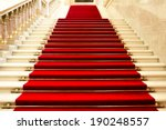 red carpet on the stairs in a... | Shutterstock . vector #190248557