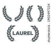 set of laurel wreaths. icon... | Shutterstock .eps vector #1902497224