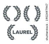 laurel wreaths vector. award...   Shutterstock .eps vector #1902497947