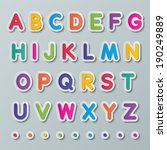 colorful paper capital alphabet ... | Shutterstock .eps vector #190249889