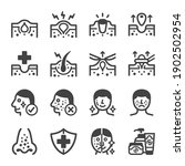 acne icon set vector and... | Shutterstock .eps vector #1902502954
