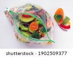 Frozen Vegetables In Plastic...