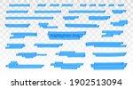 blue highlighter lines set...   Shutterstock .eps vector #1902513094