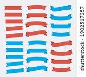 vector ribbon set on white... | Shutterstock .eps vector #1902517357