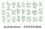 set of 25 go green quotes... | Shutterstock .eps vector #1902541804