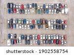 Aerial View Of Full Car Park
