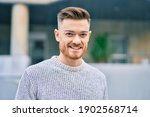 Young Caucasian Man Smiling...
