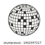 disco ball vector icon. party... | Shutterstock .eps vector #1902597217