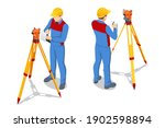 isometric surveying measuring... | Shutterstock .eps vector #1902598894
