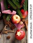 christmas time  apples | Shutterstock . vector #190261919