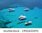 turquoise water and floating...   Shutterstock . vector #1902633391