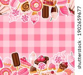 seamless pattern of pink and... | Shutterstock .eps vector #1902659677