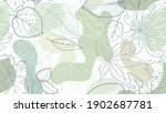 floral pattern with leaves.... | Shutterstock .eps vector #1902687781