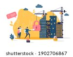 real estate concept in flat... | Shutterstock .eps vector #1902706867
