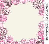 pink roses lines kiddy hand... | Shutterstock .eps vector #1902720961