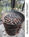 Roasting Chestnuts On Open Fire