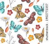watercolor seamless pattern... | Shutterstock . vector #1902772357
