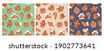 various tasty gingerbread... | Shutterstock .eps vector #1902773641