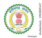 coat of arms of chhattisgarh is ... | Shutterstock .eps vector #1902805147
