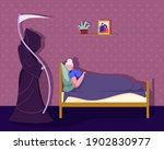 reaper came for the soul of a... | Shutterstock .eps vector #1902830977