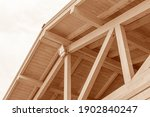 Wooden Roof Structure. Glued...