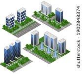 3d modern city building....   Shutterstock .eps vector #1902848374