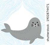 cute cartoon seal. vector...   Shutterstock .eps vector #1902874471