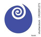 coat of arms of ibaraki is a... | Shutterstock .eps vector #1902891271