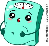 funny bathroom kawaii scale... | Shutterstock .eps vector #1902900667