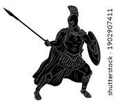 ancient roman warrior legionary ... | Shutterstock .eps vector #1902907411
